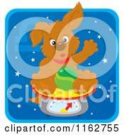 Cartoon Of A Libra Horoscope Zodiac Astrology Puppy Royalty Free Vector Clipart
