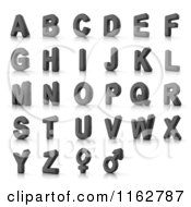 Clipart Of 3d Perforated Metal Capital Alphabet Letters And Gender Symbols Royalty Free CGI Illustration by stockillustrations