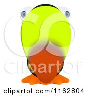 Cartoon Of A Toucan Mascot Facing Front Royalty Free Clipart