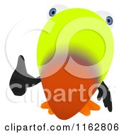 Cartoon Of A Toucan Mascot Holding A Thumb Up Royalty Free Clipart