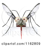Clipart Of A 3d Mosquito With A Sign 3 Royalty Free CGI Illustration