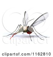 Clipart Of A 3d West Nile Virus Mosquito Royalty Free CGI Illustration