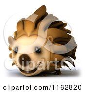 Clipart Of A 3d Happy Hedgehog Royalty Free CGI Illustration