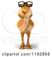 Clipart Of A 3d Happy Camel Wearing Glasses 3 Royalty Free CGI Illustration