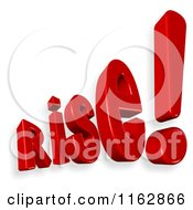 Clipart Of 3d Rise Text Royalty Free CGI Illustration