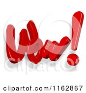 Clipart Of 3d Wow Text Royalty Free CGI Illustration
