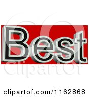 Clipart Of 3d Best Text Over Red Royalty Free CGI Illustration by MacX