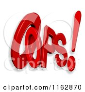 Clipart Of 3d Oops Text Royalty Free CGI Illustration