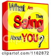 Clipart Of A 3d What Are They Saing About You Box Royalty Free CGI Illustration