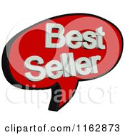 Clipart Of A 3d Red Speech Balloon With Best Seller Text Royalty Free CGI Illustration by MacX
