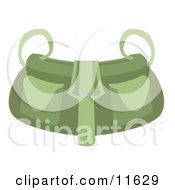 Green Shoulder Bag Purse Clipart Picture