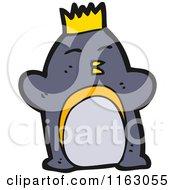 Cartoon Of A King Penguin Royalty Free Vector Illustration