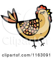 Cartoon Of A Hen Chicken Royalty Free Vector Illustration