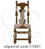 Brown Wood Chair