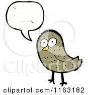 Cartoon Of A Talking Bird Royalty Free Vector Illustration