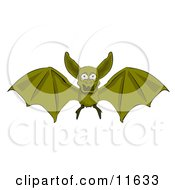 Flying Vampire Bat by AtStockIllustration