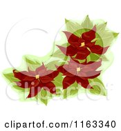 Cartoon Of A Red Poinsettia Corner Design Element Royalty Free Vector Clipart by BNP Design Studio