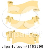 Cartoon Of Vintage Parchment Scroll Banners Royalty Free Vector Clipart