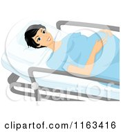 Cartoon Of A Pregnant Woman On A Stretcher And Going In To Labor Royalty Free Vector Clipart