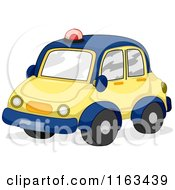 Toy Police Car In Blue And Yellow