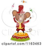 Circus Mouse Juggling On A Podium