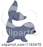 Cartoon Of A Cute Sea Lion Royalty Free Vector Clipart by BNP Design Studio