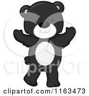 Cartoon Of A Cute Black Bear Standing Royalty Free Vector Clipart