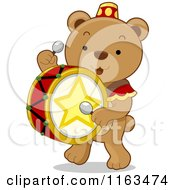Cute Circus Drummer Bear