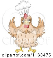Happy Chicken Wearing A Chef Hat