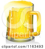 Cartoon Of A Mug Of Beer Royalty Free Vector Clipart by BNP Design Studio