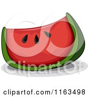 Cartoon Of A Wedge Of Watermelon Royalty Free Vector Clipart by BNP Design Studio