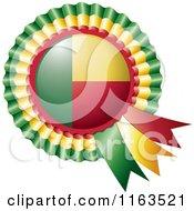 Shiny Benin Flag Rosette Bowknots Medal Award