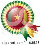Shiny Cameroon Flag Rosette Bowknots Medal Award