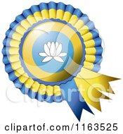 Shiny Kalmykia Flag Rosette Bowknots Medal Award