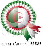Shiny Algeria Flag Rosette Bowknots Medal Award