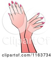 Clipart Of Female Hands Royalty Free Vector Illustration