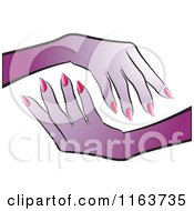 Clipart Of Purple Female Hands Royalty Free Vector Illustration