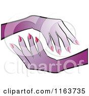 Purple Female Hands