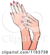 Clipart Of Female Hands 4 Royalty Free Vector Illustration