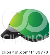 Clipart Of A Green Helmet Royalty Free Vector Illustration by Lal Perera