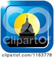 Clipart Of A Washington Capitol Building Landmark Icon 2 Royalty Free Vector Illustration
