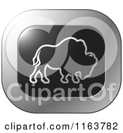 Clipart Of A Silver Buffalo Icon 2 Royalty Free Vector Illustration by Lal Perera