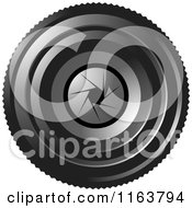 Clipart Of A Camera Lense With Aperture F 8 Royalty Free Vector Illustration by Lal Perera