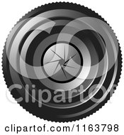 Clipart Of A Camera Lense With Aperture F 16 Royalty Free Vector Illustration by Lal Perera