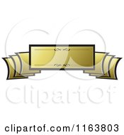 Clipart Of A Golden Banner Royalty Free Vector Illustration