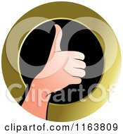Clipart Of A Thumb Up Icon Royalty Free Vector Illustration by Lal Perera
