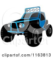 Clipart Of A Blue Dune Buggy Royalty Free Vector Illustration