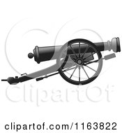 Clipart Of A Cannon Gun Royalty Free Vector Illustration