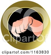 Clipart Of A Hand Down Icon Royalty Free Vector Illustration