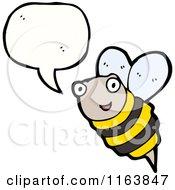 Cartoon Of A Talking Bee Royalty Free Vector Illustration
